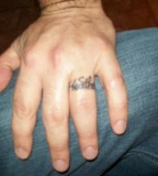 Scripture Wedding Ring Finger Tattoo