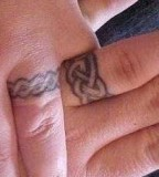 Unique Wedding Ring  Finger Tattoo for Couple