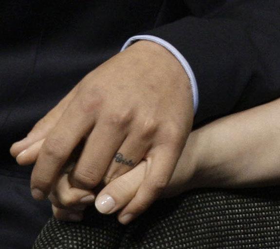 Celebrity Wedding Ring Finger Tattoo