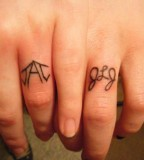 Tattoo Wedding Ring Finger Design for Glamorous Look