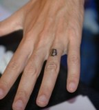 Simple Wedding Band Tattoo Design on Ring Finger