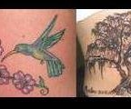 The Birds Flying Away from Willow Tree Tattoo