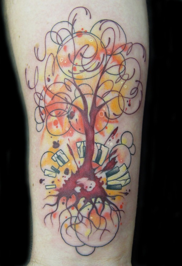 8c7f74916 Beautiful Musical Tree Tattoo for Woman - | TattooMagz › Tattoo ...
