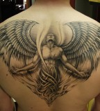 Amazing Angel with Wings Back-Tattoo Design for Men - Angel's Wings Tattoos