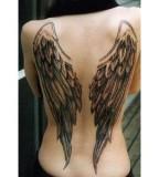 Full-Back Angel Wings Tattoo Design Ideas for Women - Angel Tattoos