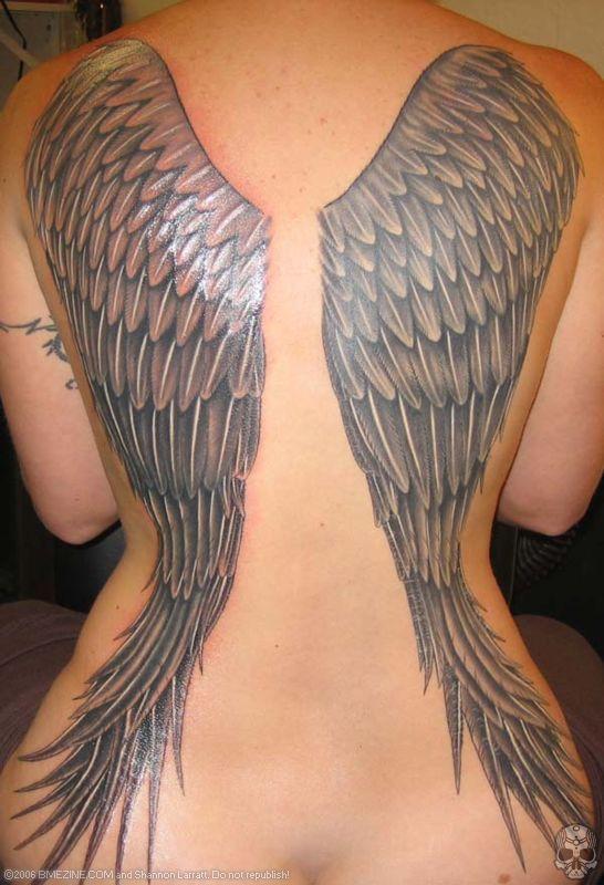 2bf3fa47beffe Beautiful Angel Wings on Women's Back - Tattoos for Women (NSFW ...
