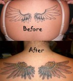 Nice Feminine Wings Tattoo Cover Up for Women - Cover up Tattoos
