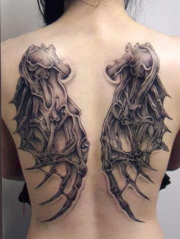 5c8113d850c51 Gothic Angel / Demon Wings Full-back Tattoo Design for Men ...