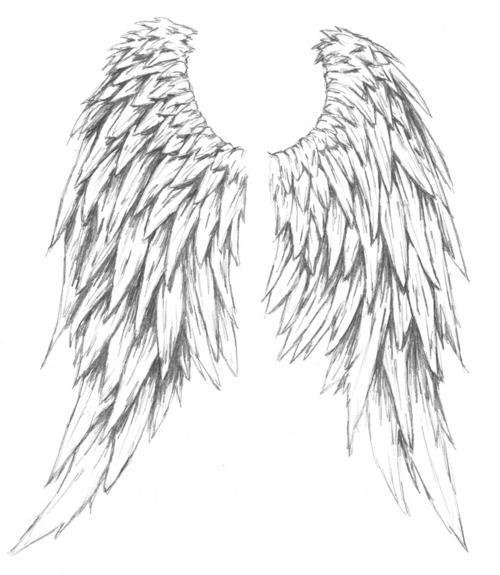 Awesome Angel Wings Sketch Art for Back Tattoo Designs