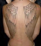 Cute Angel Wings Full-back Body Tattoos for Women