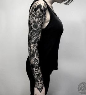 wolf-full-sleeve-tattoo-by-darkside-tattoo