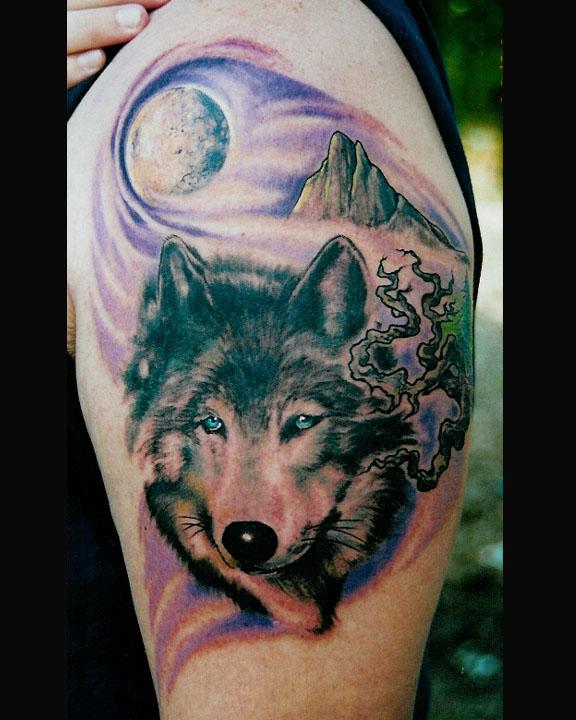 Wolf Moon Mountain Tattoo Art Design Tattoomagz Tattoo