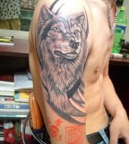 Japanese Wolf Tattoo For Men