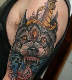 Half Sleeve Tattoos - Wolf tattoos For Men