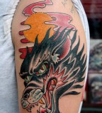 Tattoos For Men - Wolf Tattoo Design