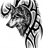 Tribal Wolf Tattoo Design - Wolf Tattoo For Men