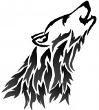 Head Of Wolf Tattoo Design - Tattoo For Men
