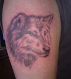 Wolf Tattoo For Men On Bicep - Wolf Tattoo Design
