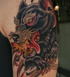 Wolf Creature Tattoo Image