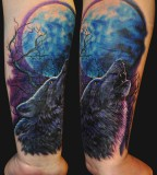 Forearm Wolf Tattoos - Tattoo Design For Men