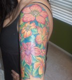 Flowers Arm Sleeve Tattoos For Women