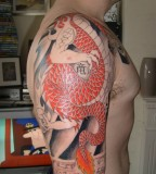 Half Sleeve Dragon Tattoo Design for Men