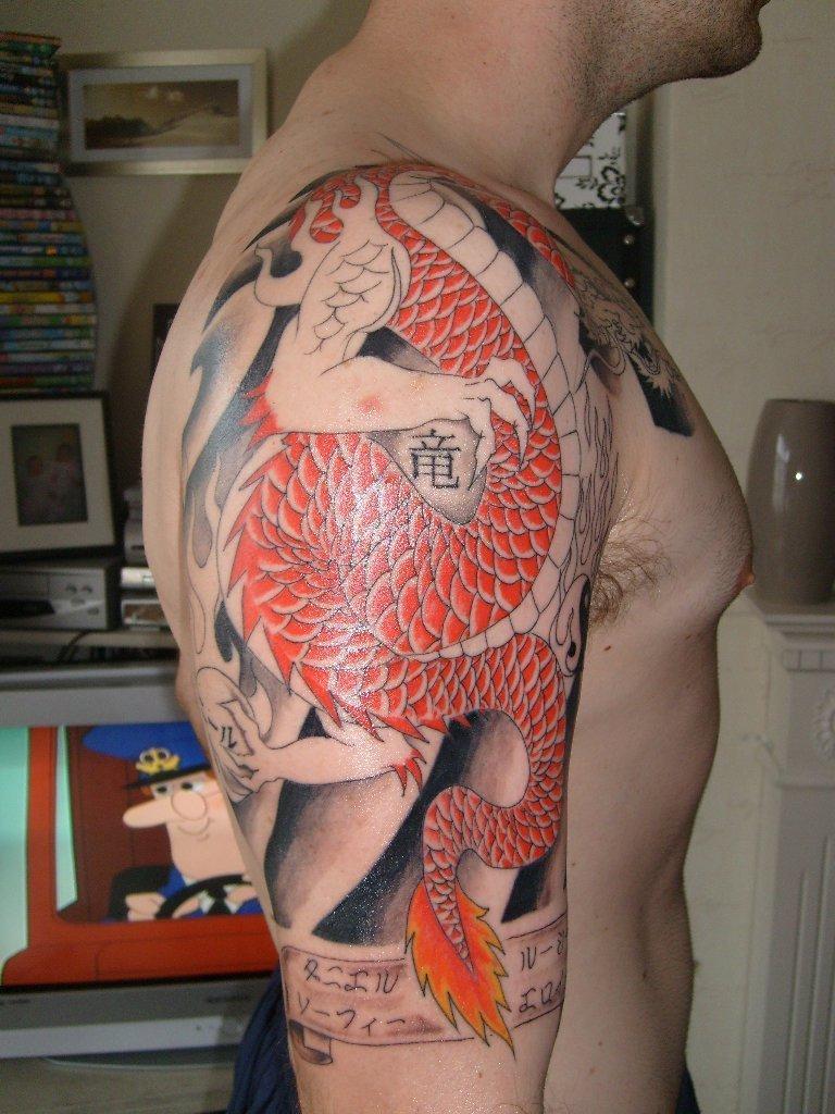 a8f9e4ea0 Half Sleeve Dragon Tattoo Design for Men - | TattooMagz › Tattoo ...