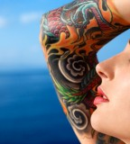 Beautiful Swirl Sleeve Tattoo Designs For Women
