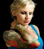 Amazing Nikole Sleeve Tattoo Design