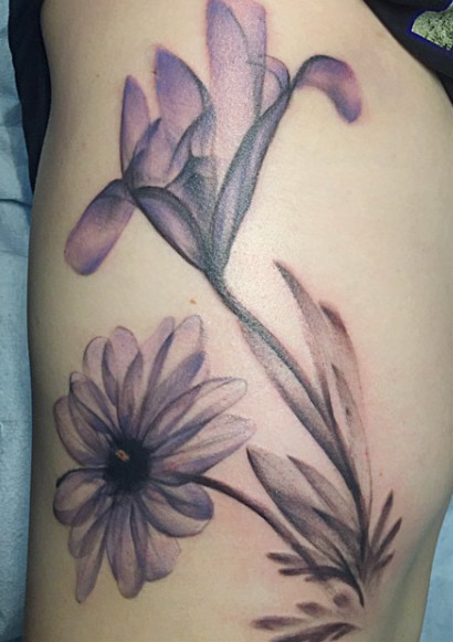 xray flower tattoo